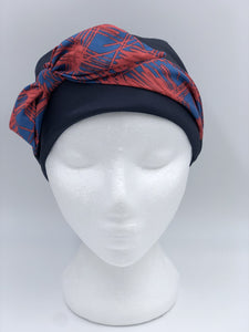 Splash Happy Shower Cap Navy Red Scribble