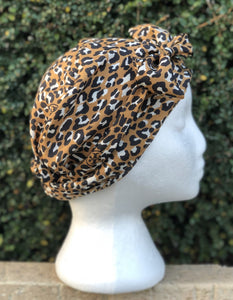 Splash Happy Silk Sleep Cap Leopard