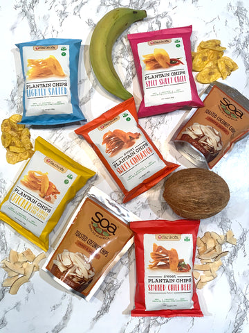 Sankofa plantain chips Snacks of Africa (SOA) Chips