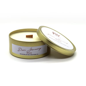 Dear January - Satin Oud Flickerwick Candle