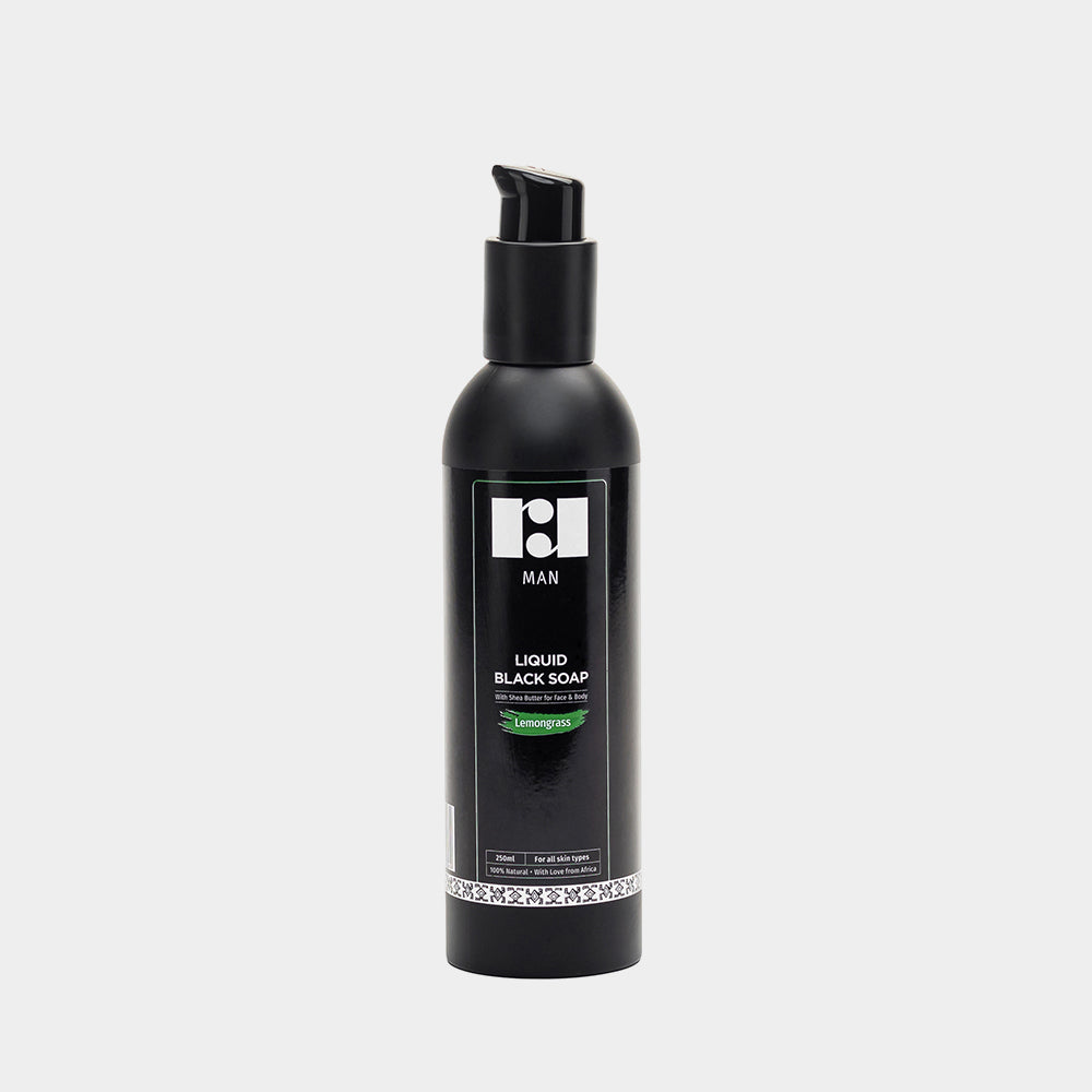 R&R Luxury Men's Liquid Black Soap