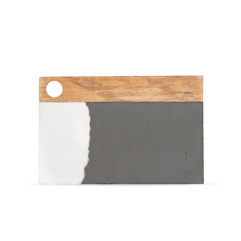 Studio Badge Mini Aitch Concrete Platter
