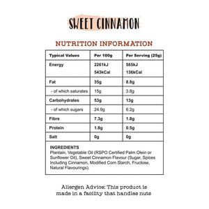 Sankofa Plantain Chips - Sweet Cinnamon (Pack of 5)