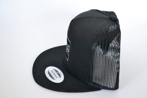 Yupoong Snap Back - Black Embroidered Hat