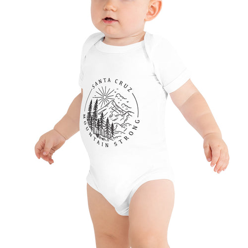 Santa Cruz Mountain Strong - Unisex Baby Onesie