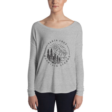 Santa Cruz Mountain Strong - Ladies' Long Sleeve Scoop Neck Tee
