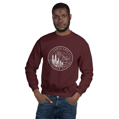 Santa Cruz Mountain Strong - Unisex Crew Neck Sweatshirt