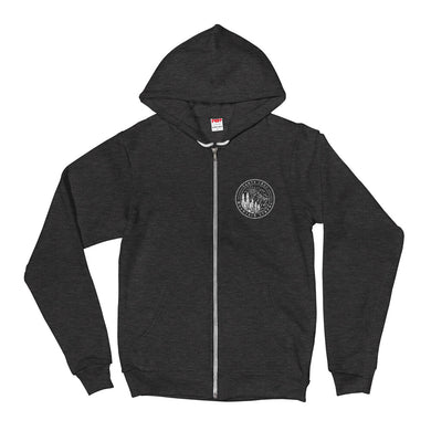 Santa Cruz Mountain Strong - Unisex Zipped Hoodie Sweater