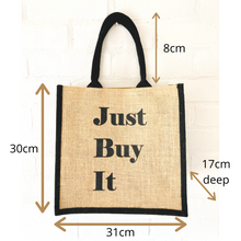 Load image into Gallery viewer, Reusable Jute Shopping Bag