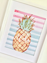 Load image into Gallery viewer, Pineapple Art Print, Tropical Theme Print