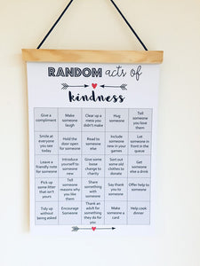 Random Acts of Kindness Print, Classroom Decor