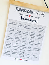 Load image into Gallery viewer, Random Acts of Kindness Print, Classroom Decor