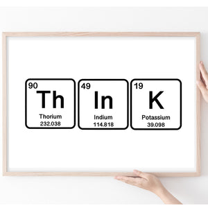 Science Gifts, Periodic Table Print, Inspire Quote