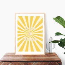 Load image into Gallery viewer, Rise and Shine Quote, Yellow Art Print