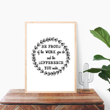 Load image into Gallery viewer, Be Proud, Digital Download, Teacher Gift, Nurse Gift