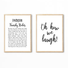 Load image into Gallery viewer, Family Rules Print, House Rules Poster