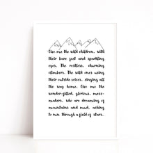 Load image into Gallery viewer, Wild Children Quote Print, Playroom Art