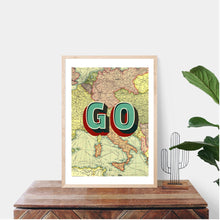 Load image into Gallery viewer, Travel Quote, Map Wall Art, Travel Lover Gifts, Map Decor