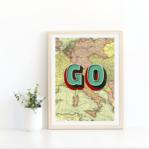 Travel Quote, Map Wall Art, Travel Lover Gifts, Map Decor