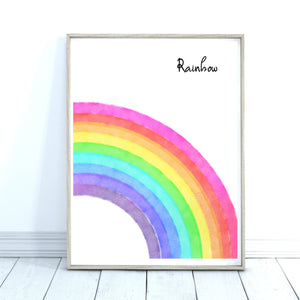 Watercolour Rainbow Print, Personalised