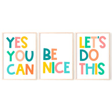 Load image into Gallery viewer, Colourful Kids Quote Prints, Set of Prints