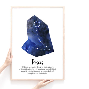 Star Sign Prints, Astrology Wall Art