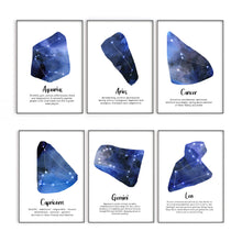 Load image into Gallery viewer, Star Sign Prints, Astrology Wall Art