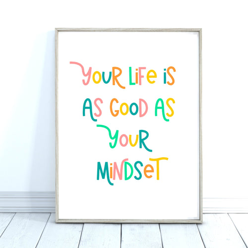 Positive Quote Print, Inspirational Quote