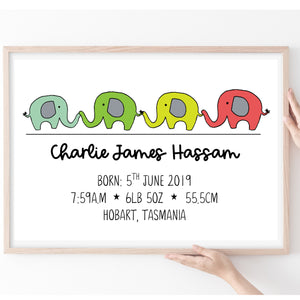 Personalised Baby Gift, New Baby Print