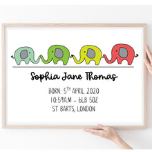 Load image into Gallery viewer, Personalised Baby Gift, New Baby Print