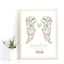 Load image into Gallery viewer, Digital Angel Baby Print, Infant Bereavement Gift