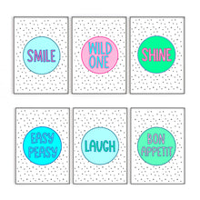 Load image into Gallery viewer, Laugh Quote Print, Turquoise Wall Art