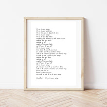 Load image into Gallery viewer, Custom Text Print, Custom Poem Print, Song Lyric Print