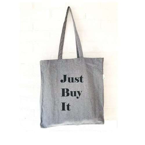 Large Tote Shopping Bag, Recycled Cotton