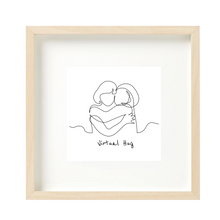 Load image into Gallery viewer, Virtual Hug Framed Print, Gift for Girl Friend