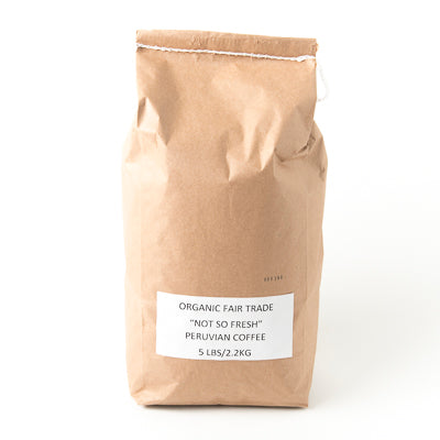 "Organic Fair Trade ""Not So Fresh"" Peruvian Coffee - 5lb"