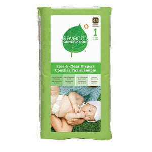 Disposable Diapers, Size 1 (8-14 pounds)