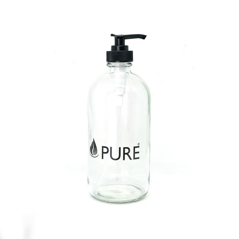 Empty Bottle Glass with Pump - 500ml