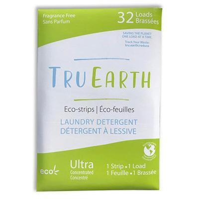Tru Earth Eco-Strips Laundry Detergent | Fragrance-Free - 32 Loads