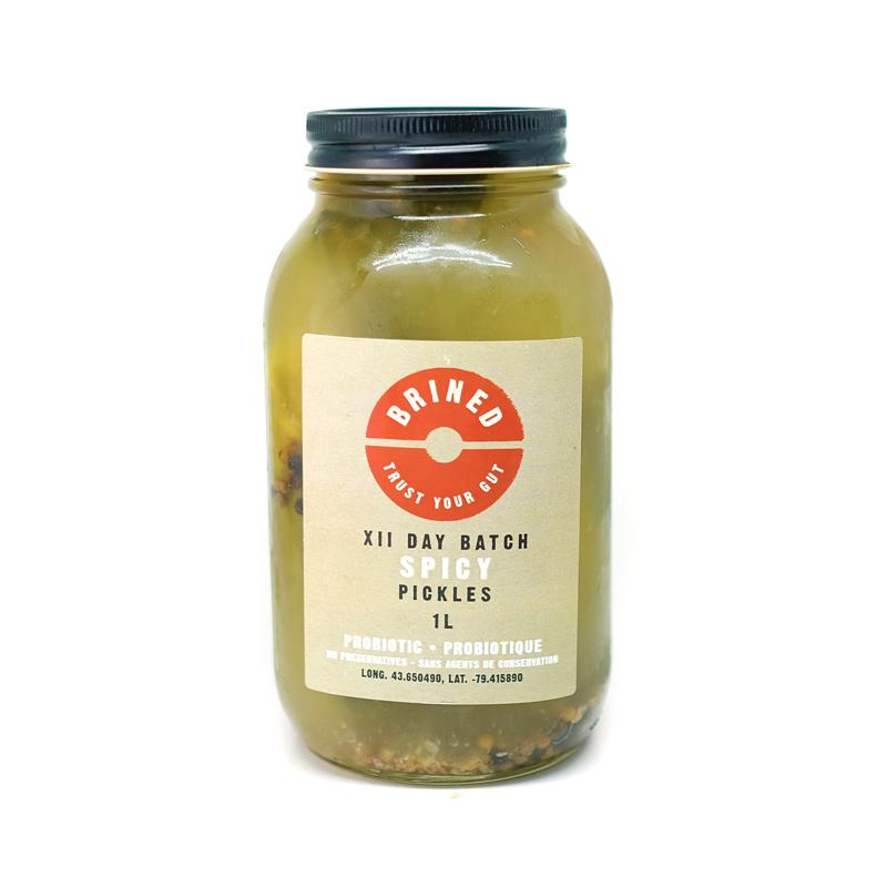 Organic Spicy Full Sour Lacto Fermented Pickles