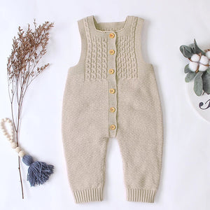 Knitted Jumpsuit - Beige