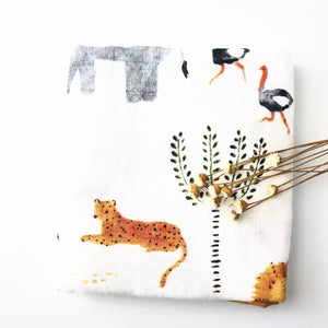 Muslin Swaddle - Animal - Little Boo Store