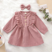 Load image into Gallery viewer, Corduroy Dress in Blush Pink