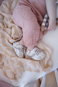 Muslin Swaddle - Neutral Rainbow - Little Boo Store