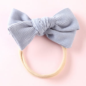 Large Cord Bow - Blue - Little Boo Store