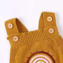 Load image into Gallery viewer, Rainbow Knit Romper - Mustard - Little Boo Store