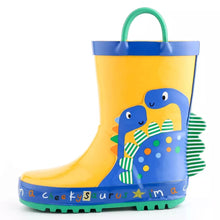 Load image into Gallery viewer, Yellow Dino Gumboots