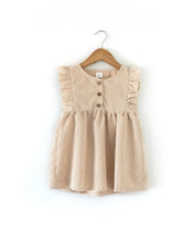 Load image into Gallery viewer, Oatmeal Cord Dress - Little Boo Store