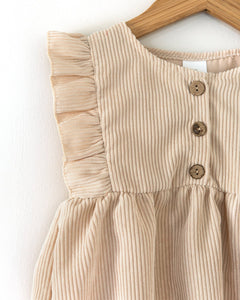 Oatmeal Cord Dress - Little Boo Store
