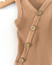 Load image into Gallery viewer, Ribbed Button Bodysuit - Caramel